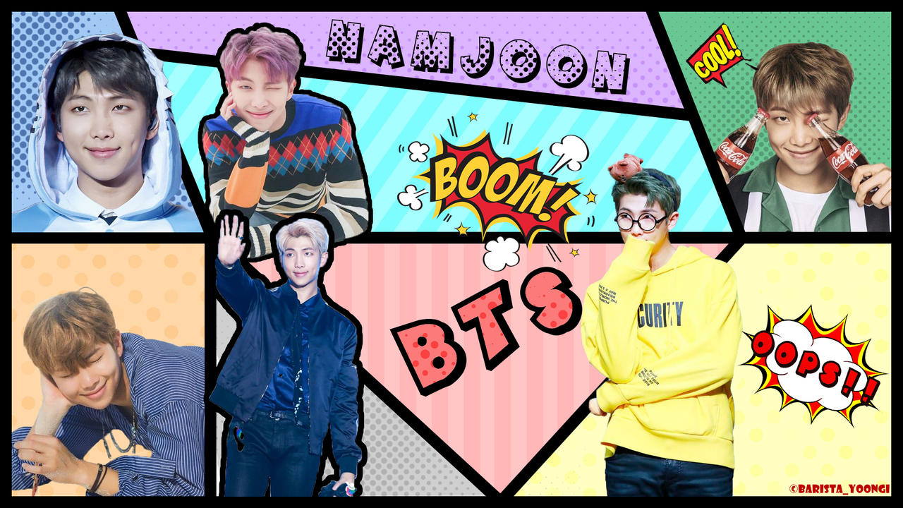bts rm  namjoon  desktop wallpaper by akarichan87gaby dd6yi82