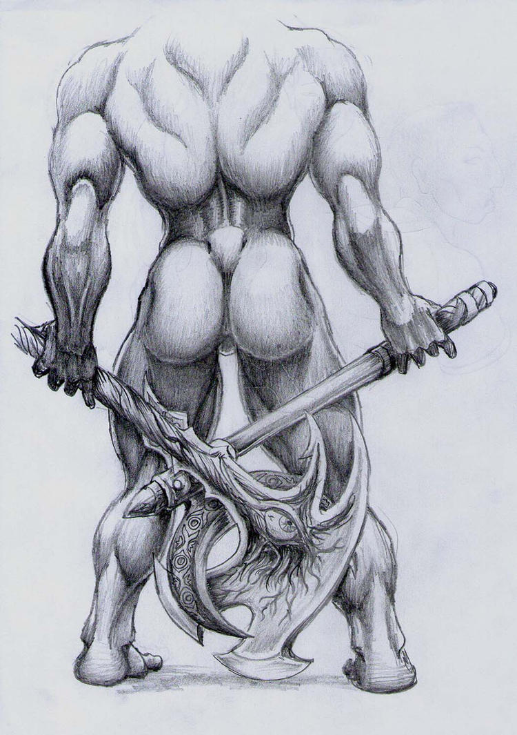 Axe Crag Elder In Defiant Stance by Khasdannyanlord
