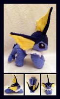 Vaporeon Floppy Plush by Lighiting-Dragon