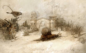 Nostalgic landscape with a penny by artfactotum