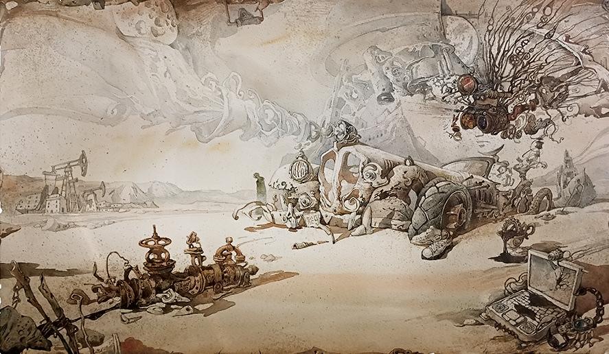 Martian chronicles. Oil by artfactotum