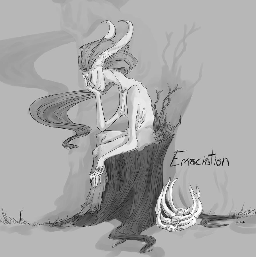 Goretober #15 Emaciation by ChesireHats