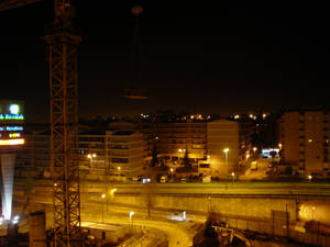 Braga at night from my balcony