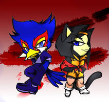 SCSFCC-FALCO AND KATT by WhiteFox89