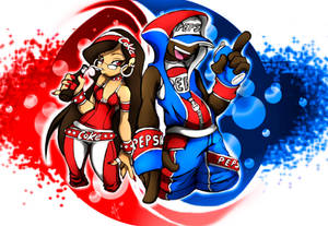 COKE GIRL AND PEPSI BOY