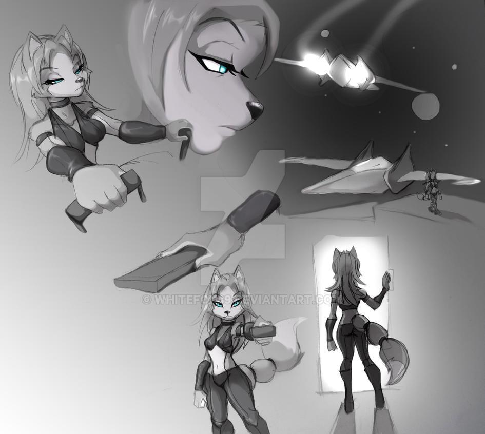 krystal story sketch 1 by WhiteFox89
