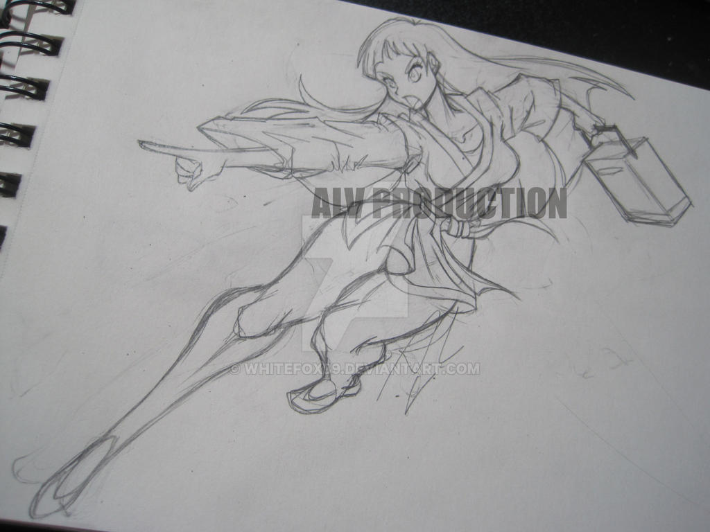 Kaori Attack by WhiteFox89