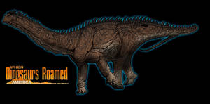 When Dinosaurs Roamed America Apatosaurus by kingrexy