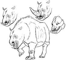 Carnivorous Rhino Kaiju