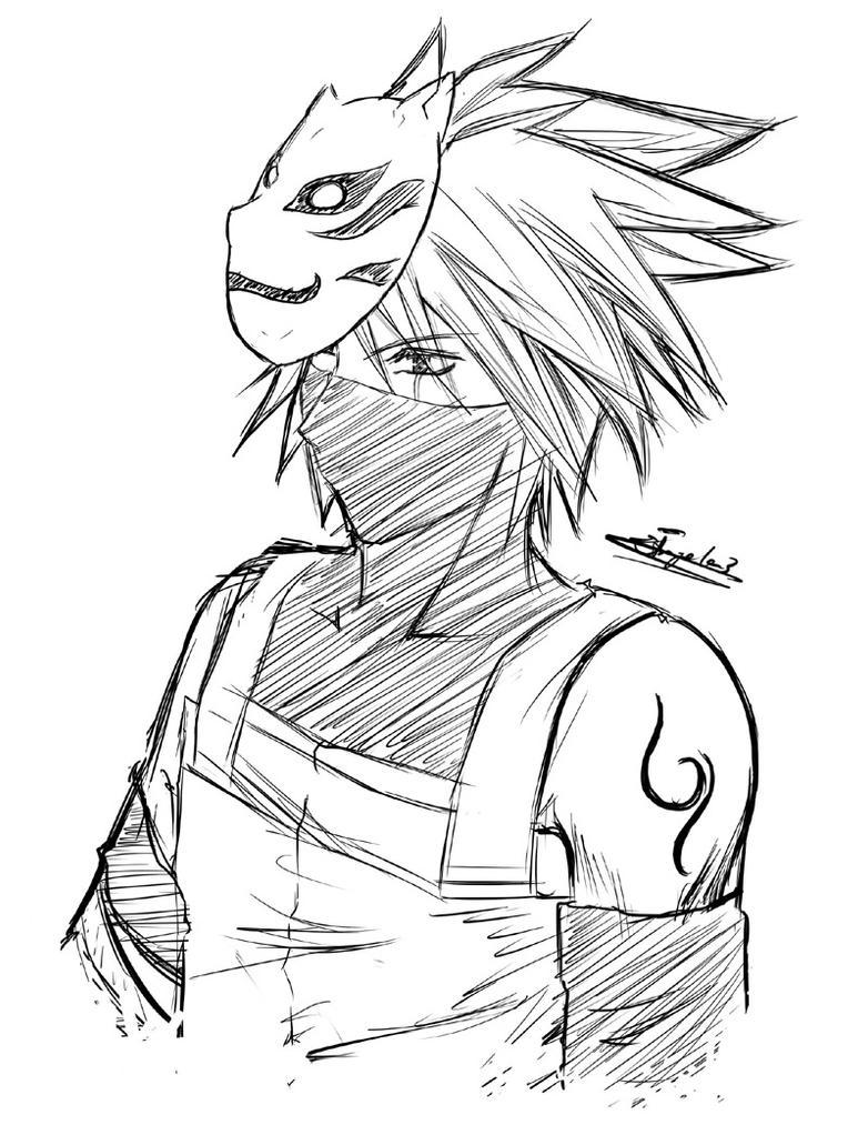 kakashi sketches - 782×1021