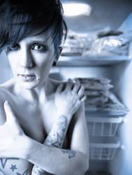 Andrea in a Freezer by okcdasphoto