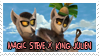 Magic Steve x King Julien stamp by KingJulienFangal