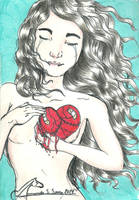 Patched heart by AmanndaSierra