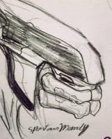 Elite Halo CE Sketch by AmanndaSierra