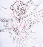 Halo - paradise. Bird concept