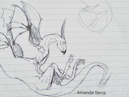sketch dragon by AmanndaSierra