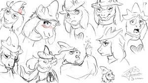 Ralsei Sketches by AmanndaSierra