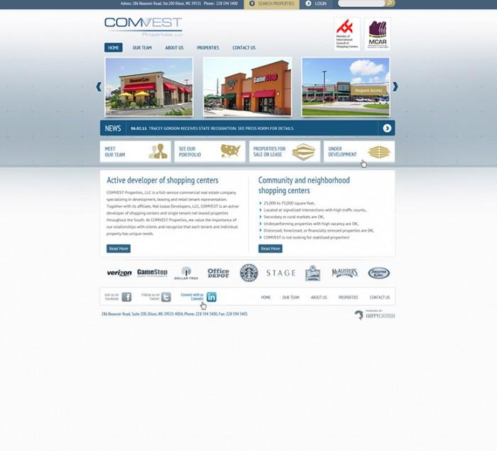 COMVEST Properties LLC Website by HappyCatfishWeb