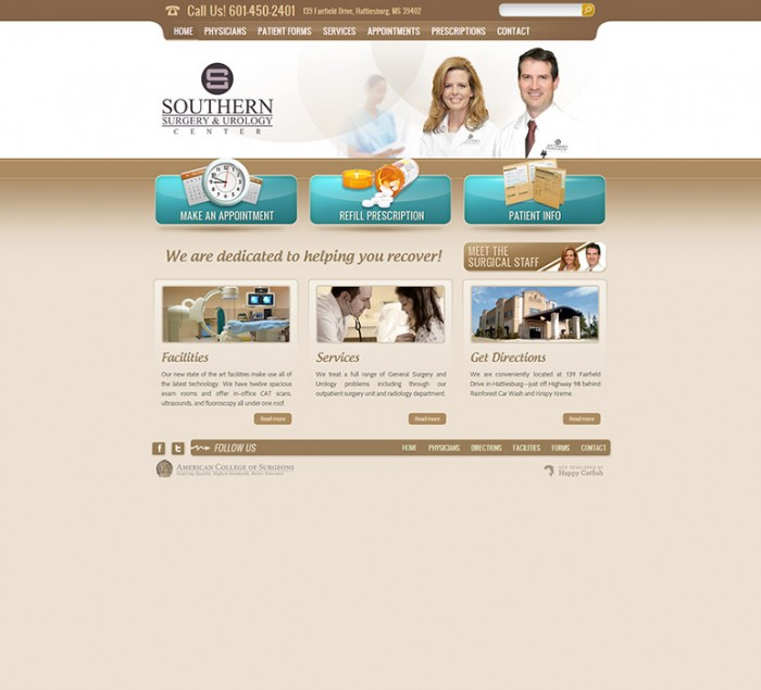 Southern Surgery and Urology Website by HappyCatfishWeb