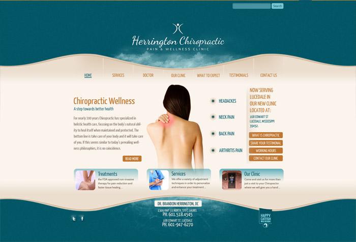 Herrington Chiropractic Website by HappyCatfishWeb