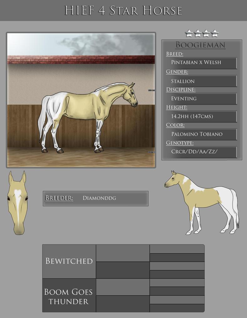 HIEF 4 Star Pony - Boogieman by WB-Equine-Art