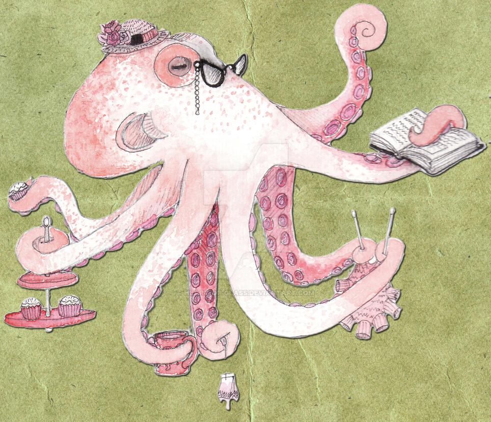 Pink Octopus Lady by heart-of-glass