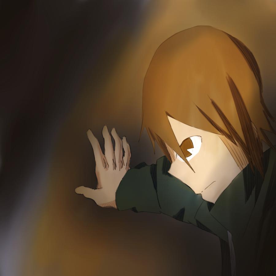 Hiding in the dark by Shinobka