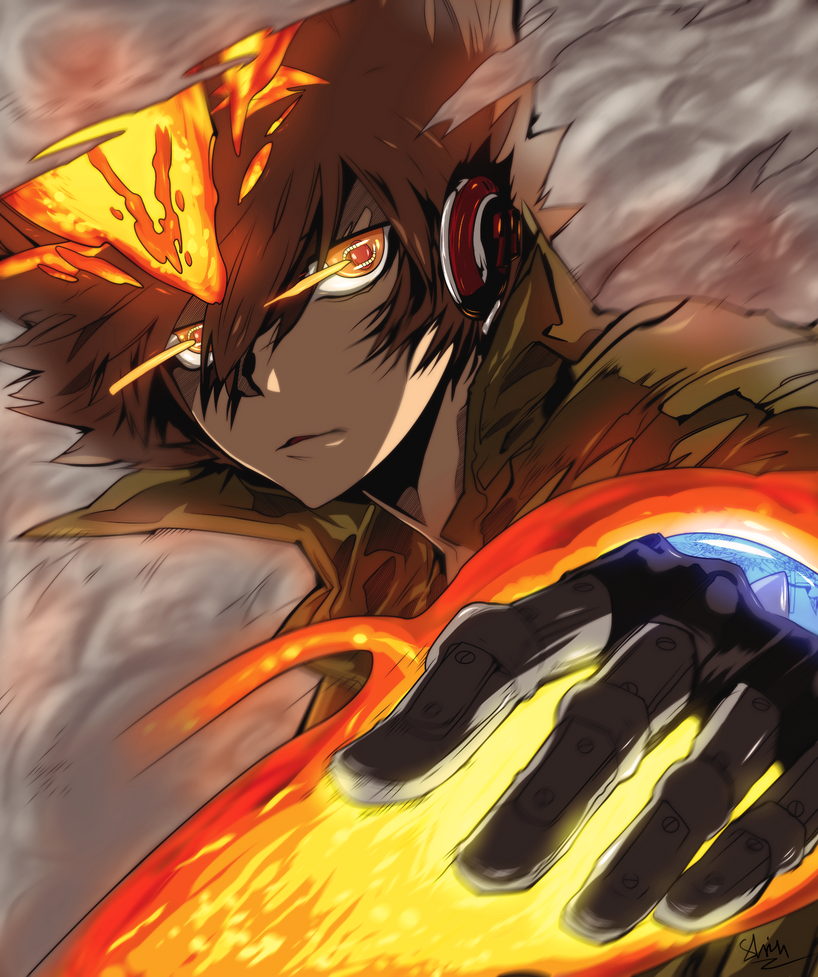 Tsuna X Burner by Shinobka