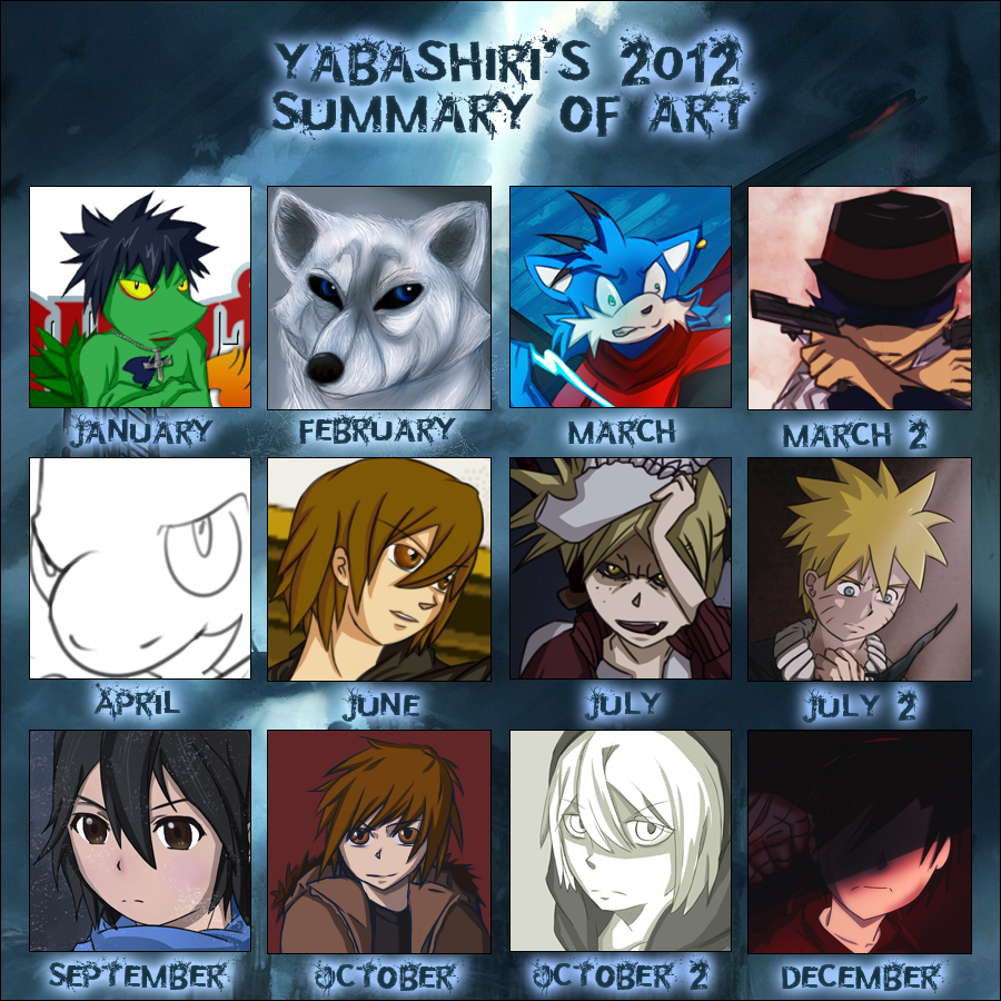 Yabashiri's 2012 Summary of Art by Shinobka