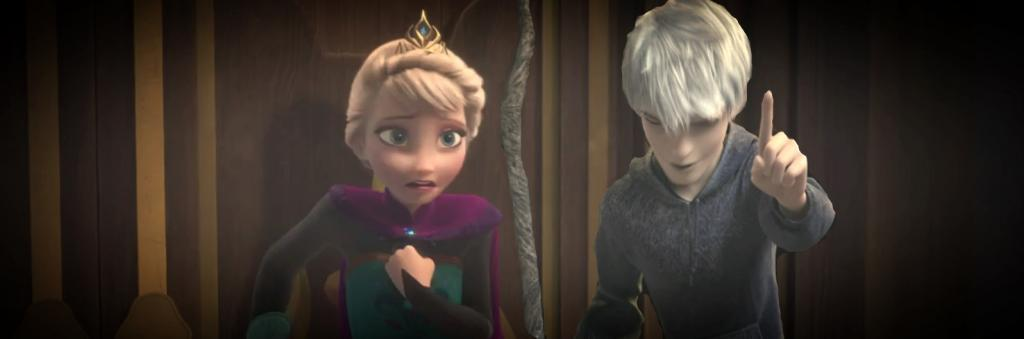 Jack Frost Scared Jack Frost And Queen Elsa by