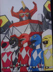 Mighty Morphin Power Rangers With Megazord