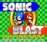 Sonic Blast G (NES Colors) by GoldenEubank21