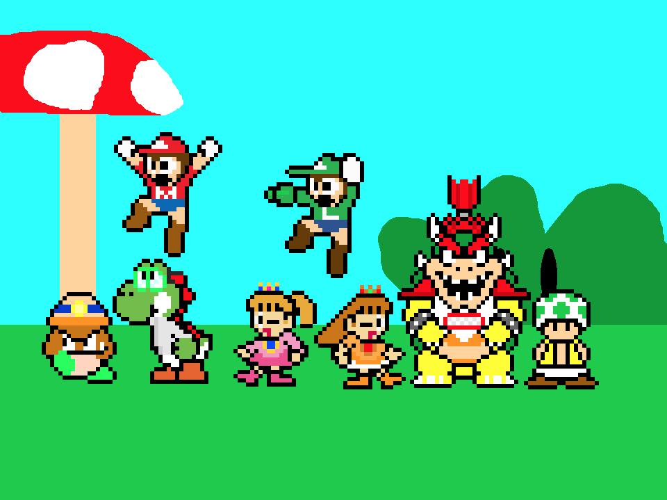 Super Mario Descendants-Main Heroes by GoldenEubank21