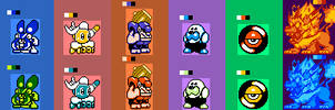 Kirby: Project Retro Mid-Boss Roster Set 1