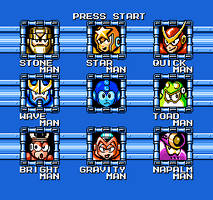 Mega Man Game Gear Remake: Stage Select by MegaToon1234