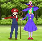 Mario Encounters Sarissa the Witch