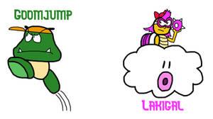 Custom Mario Enemy Variants: Jump and Throw