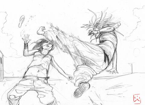 TAKORU:Fight at the beach