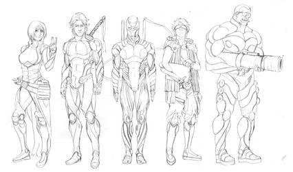 Commission: Rebelion Sketch by TAKORUone