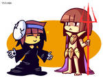 Gaster!Frisk and Asgore!Chara