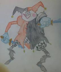 Leaguemon #3 Mr. Shaco (Mr. Mime + Shaco) by ekramer65