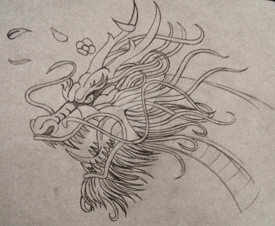Asian dragon by wolfhogen