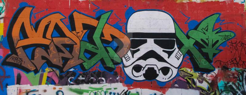 Storm Trooper in Art Alley Rapid City SD by wolfhogen