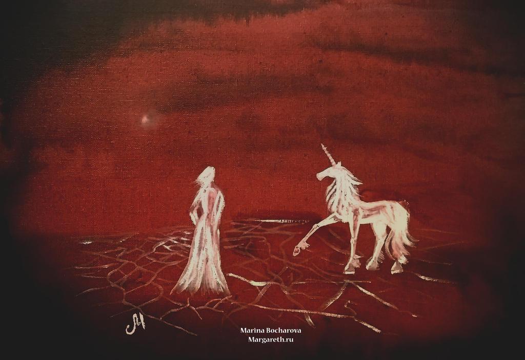 The white unicorn by MarinaBocharova