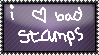 i love bad stamps stamp by RouxWolf