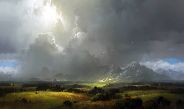 Concept practice 13_landscape with mountains