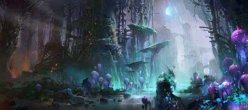 The dark Yingge forest by IvanLaliashvili