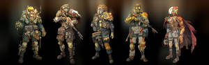 Post-apocalyptic soldiers and cyborgs
