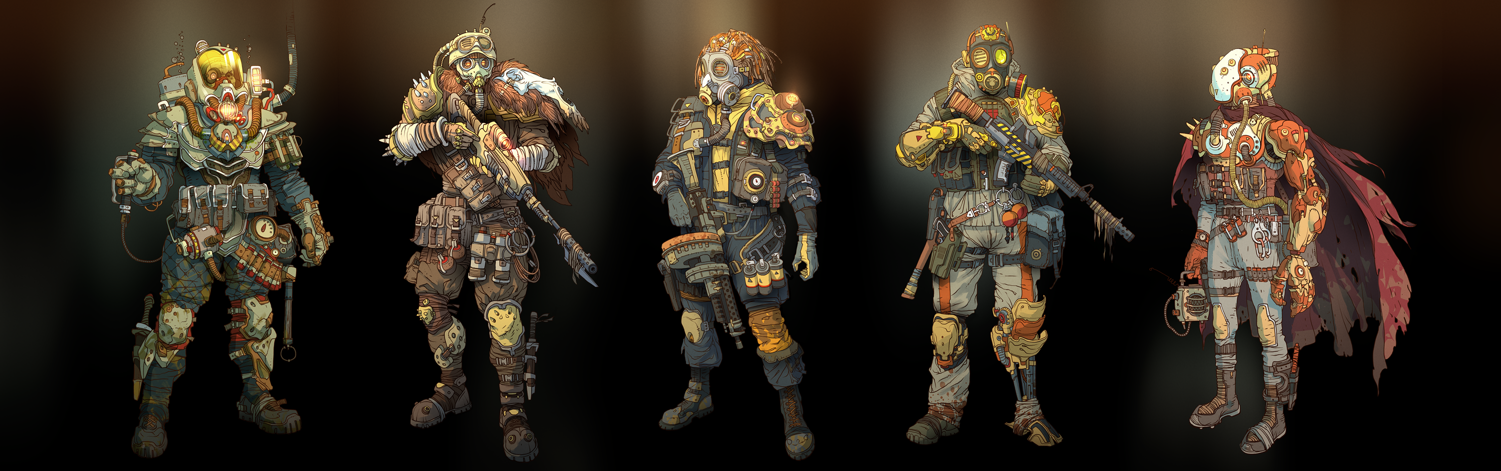 Post-apocalyptic soldiers and cyborgs by IvanLaliashvili