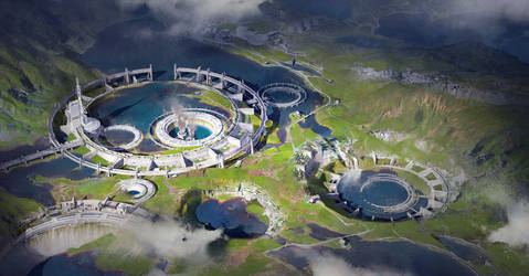 Water extraction facilities_Blender course
